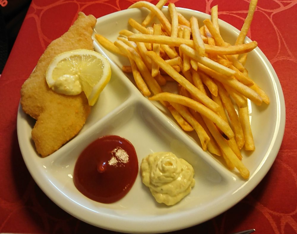 Børne menu med fiskefilet